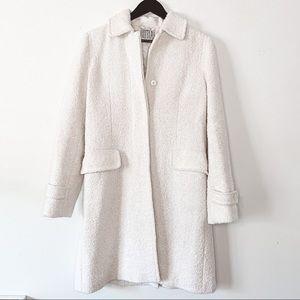 Vintage BILL BLASS Wool Blend Trench Ivory Peacoat